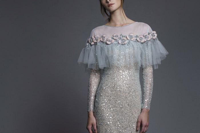 مدل لباس مجلسی با پارچهی لمه شنی مدل های جدید لباس مجلسی با پارچهی لمه 2019