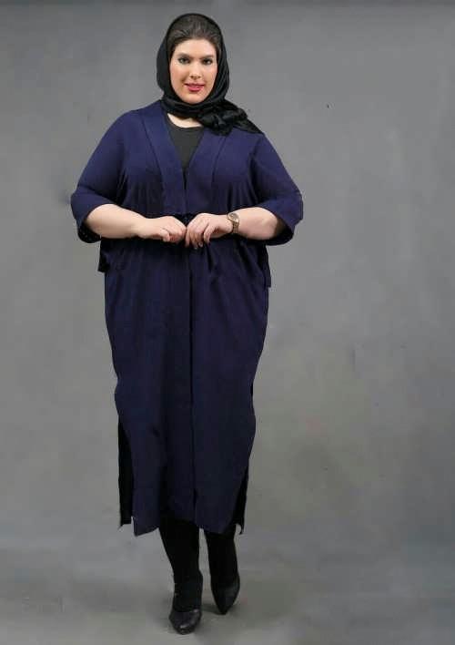 مانتوی بلند برای افراد چاق