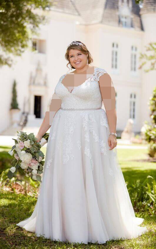 مدل لباس عروس فرم بدنی دایرهای شکل برای افراد چاق