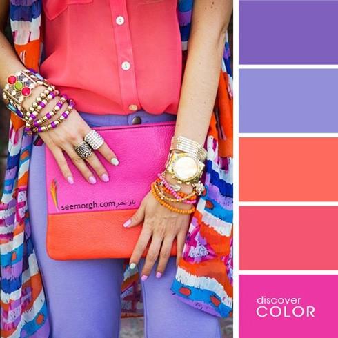 استایل رنگی رنگی در تابستان