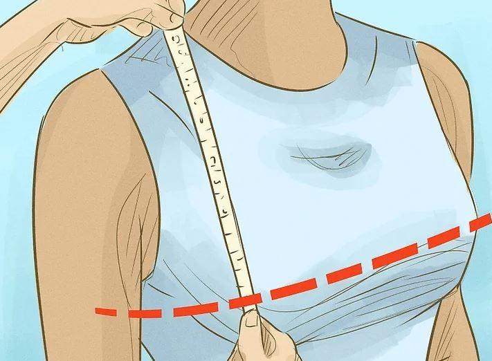 اندازهگیری بلندی سینه برای دوخت مانتو
