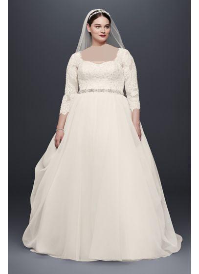لباس عروس یقه خشتی برای افراد چاق