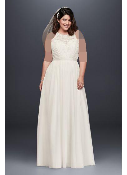 لباس عروس یقه هالتر برای افراد چاق
