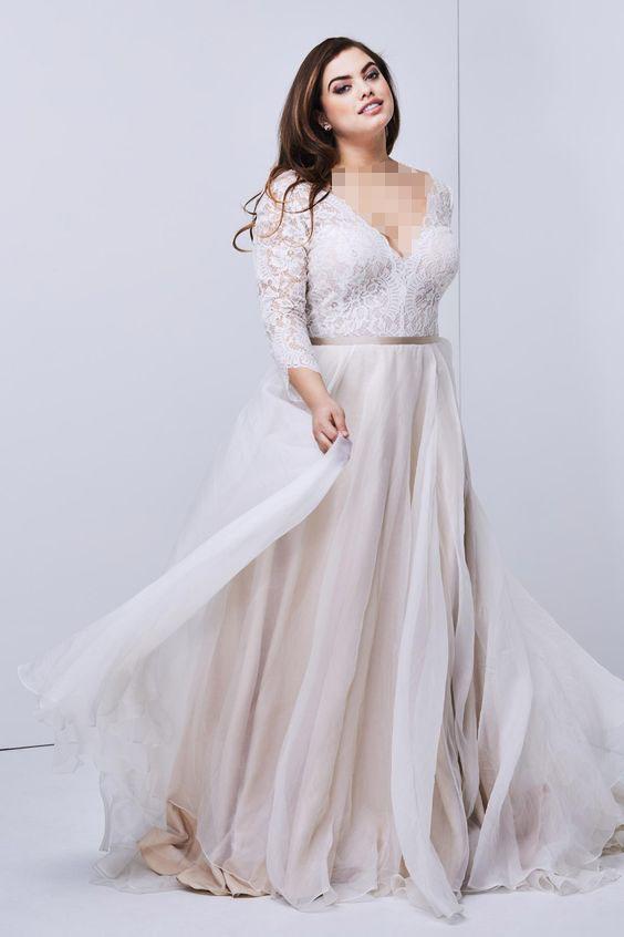 مدل لباس عروس برای چاقی سینهها و بالاتنه