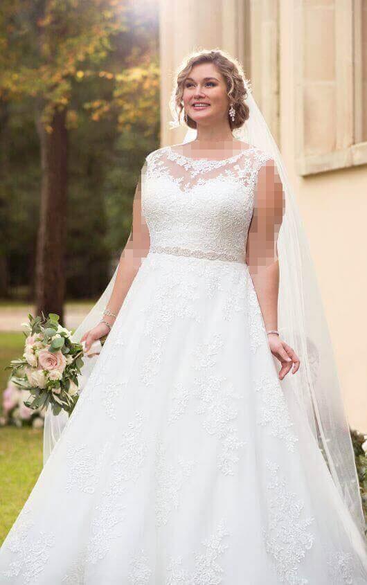 مدل لباس عروس فرم بدنی سیبی شکل برای افراد چاق