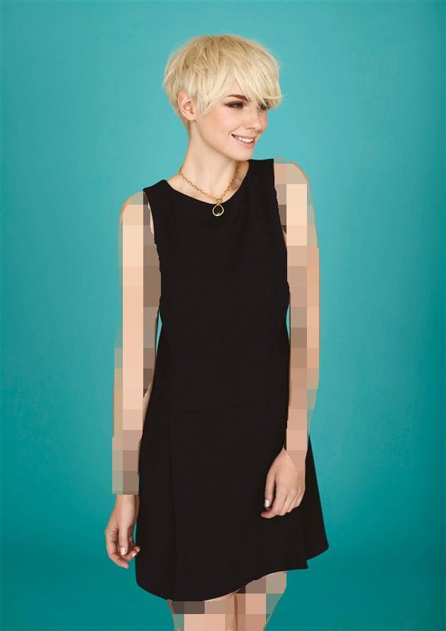 مدل لباس مجلسی با موی کوتاه