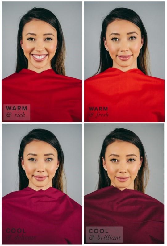 اصول ست کردن لباس مجلسی قرمز