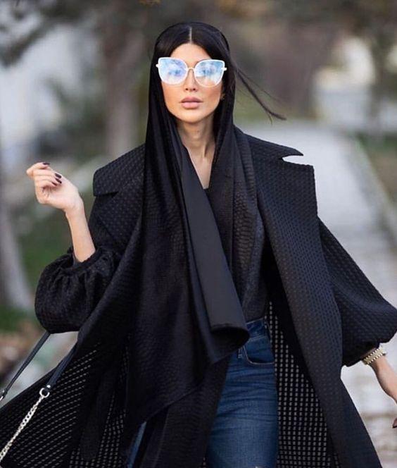 مدل مانتو مشکی لاکچری