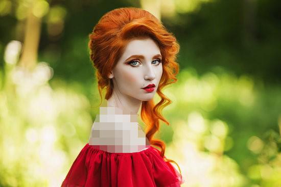 با لباس مجلسی قرمز چه رنگ مویی میاد؟