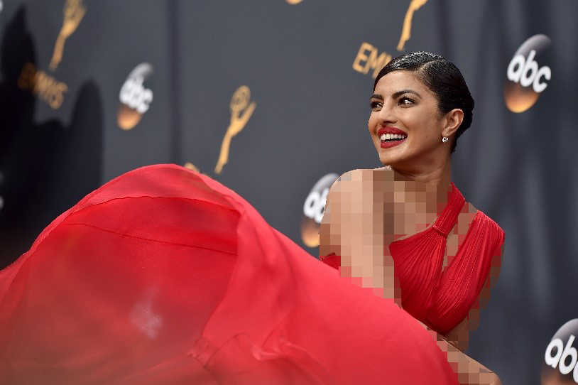 رنگ موی مشکی با لباس مجلسی قرمز