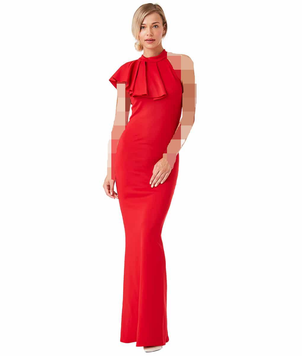 لباس مجلسی قرمز و هایلایت روشن