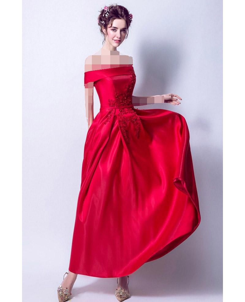 لباس مجلسی قرمز و شینیون بسته