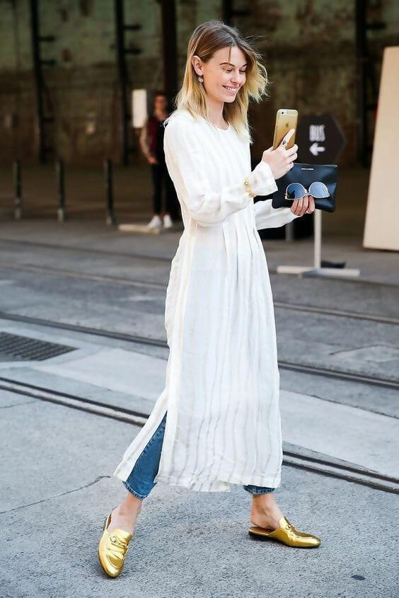 لباس بلند و اسلیپرز